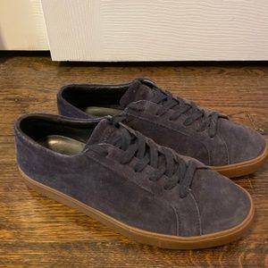 Michael Kor's Navy Suede Low Top Sneakers
